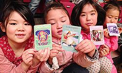 1月26日Umiのいえ主催しあわせのはじまりに向けてダンスリハーサル。Zinniaトライバルキッズダンサーズも女神カードをひきました!